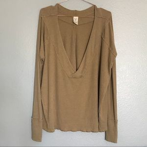 FREE PEOPLE GOLD TUNIC SIZE SMALL